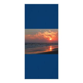 Puesta del sol del océano - isla del roble, NC Lonas Publicitarias