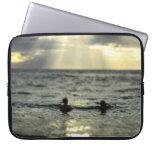 Puesta del sol del océano mangas portátiles