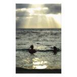 Puesta del sol del océano papeleria