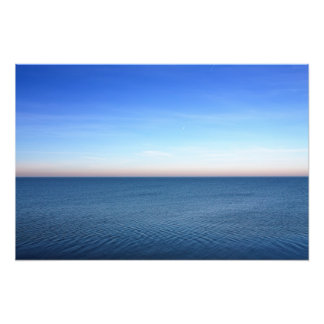 Puesta del sol del océano fotografias