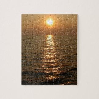 Puesta del sol del océano rompecabezas con fotos
