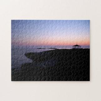 Puesta del sol del océano puzzle con fotos