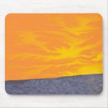 Puesta del sol del océano tapetes de ratón