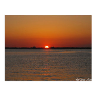 Puesta del sol del océano tarjetas postales