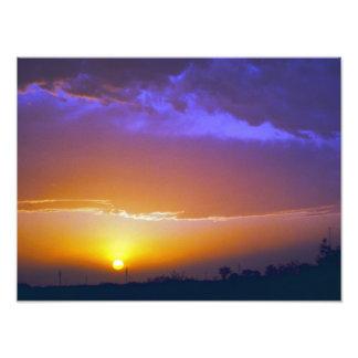 Puesta del sol del oeste #2 de Tejas Foto