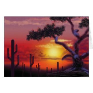 Puesta del sol del oeste felicitación