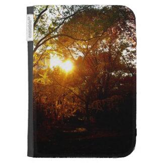 Puesta del sol del otoño