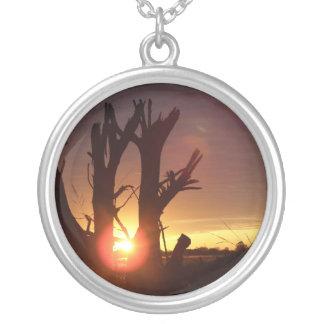 Puesta del sol del país de la CAÍDA Colgante Redondo