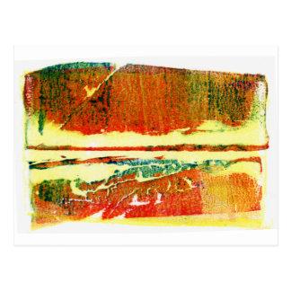 Puesta del sol del pantano tarjeta postal