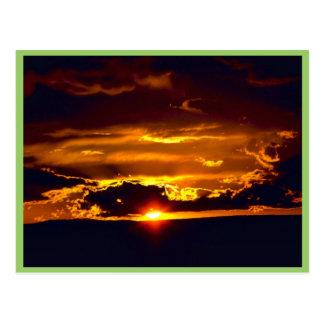 Puesta del sol del parque nacional de las cavernas tarjetas postales