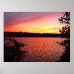 puesta del sol del parque nacional del acadia impresiones