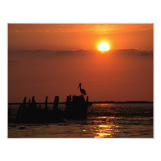 Puesta del sol del paso del San Luis Fotografía