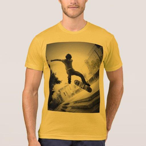 Puesta del sol del patinador camiseta