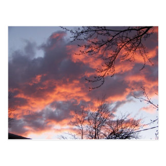 Puesta del sol del pleno invierno postales