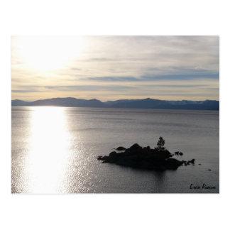 Puesta del sol del pleno invierno tarjetas postales