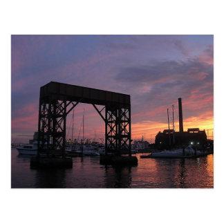 Puesta del sol del puerto de Baltimore Postal