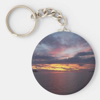 Puesta del sol del puerto de Drayton Llavero Redondo Tipo Pin