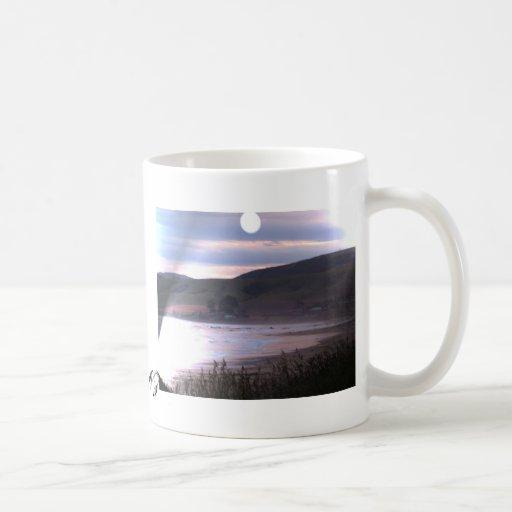 Puesta del sol del punto de Kaka de la taza