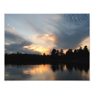 puesta del sol del punto del pino fotografias
