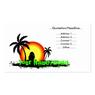 Puesta del sol del reggae tarjetas de visita