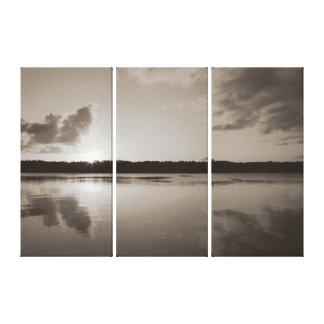 Puesta del sol del río de Clarence en el panel de  Impresión En Lona