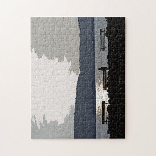 Puesta del sol del río Hudson Rompecabezas Con Fotos