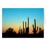 Puesta del sol del Saguaro Felicitación