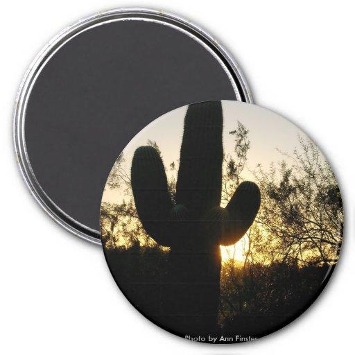 Puesta del sol del Saguaro Iman Para Frigorífico