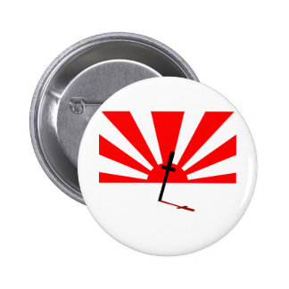 Puesta del sol del samurai pin