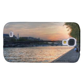 Puesta del sol del Sena Carcasa Para Galaxy S4