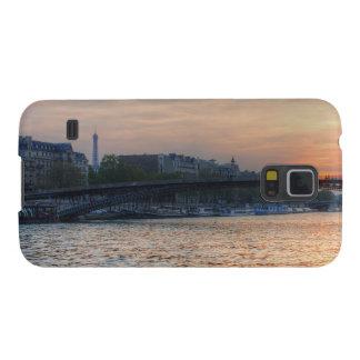 Puesta del sol del Sena Funda Galaxy S5
