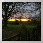 Puesta del sol del solsticio impresiones
