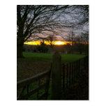 Puesta del sol del solsticio postal