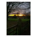 Puesta del sol del solsticio tarjeta pequeña