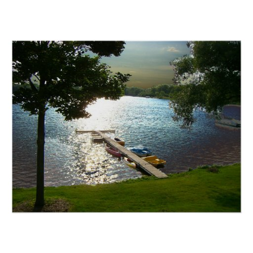 Puesta del sol del st del lago michigan impresiones