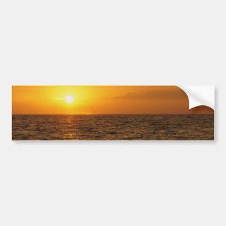 Puesta del sol del St. Pete Pegatina De Parachoque