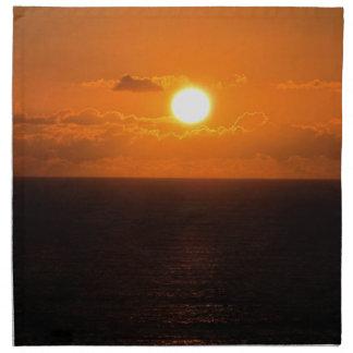 Puesta del sol del sur 1 de Autunm de la roca de Servilleta