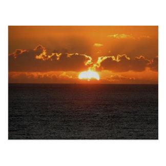 Puesta del sol del sur .2. de Autunm de la roca de Postales