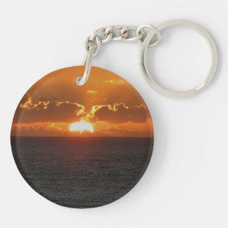 Puesta del sol del sur .3. de Autunm de la roca de Llavero Redondo Acrílico A Doble Cara