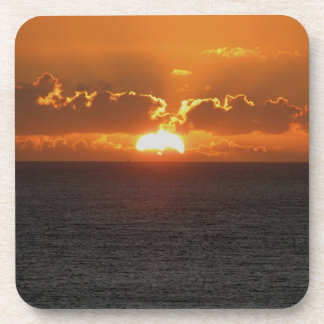 Puesta del sol del sur .3. de Autunm de la roca de Posavasos De Bebidas