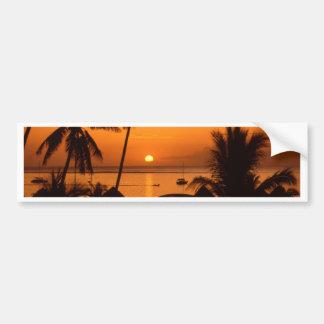 puesta del sol del tahiiti pegatina para auto
