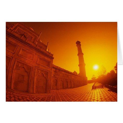 Puesta del sol del Taj Mahal Felicitación