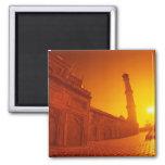 Puesta del sol del Taj Mahal Iman De Frigorífico