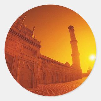 Puesta del sol del Taj Mahal Pegatinas