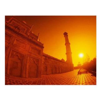 Puesta del sol del Taj Mahal Postales