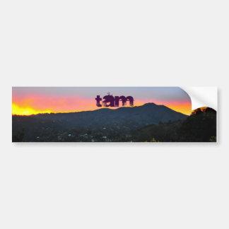 puesta del sol del tam, TAM Pegatina De Parachoque