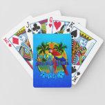Puesta del sol del tiempo de la isla cartas de juego