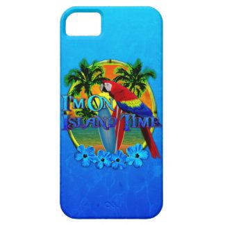 Puesta del sol del tiempo de la isla iPhone 5 fundas