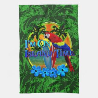 Puesta del sol del tiempo de la isla toallas