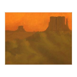 Puesta del sol del valle del monumento impresión en lona